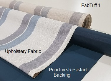 FabTuff 1 Fire-Resistant Puncture Protection for Upholstery Fabric