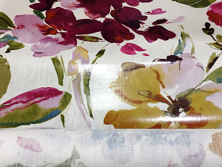 FabShield® - Clear Overlay Lamination on Beautiful Floral Fabric