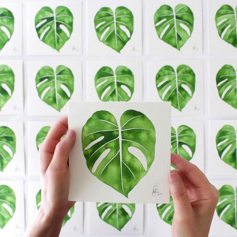 by botanical artist Living Pattern.