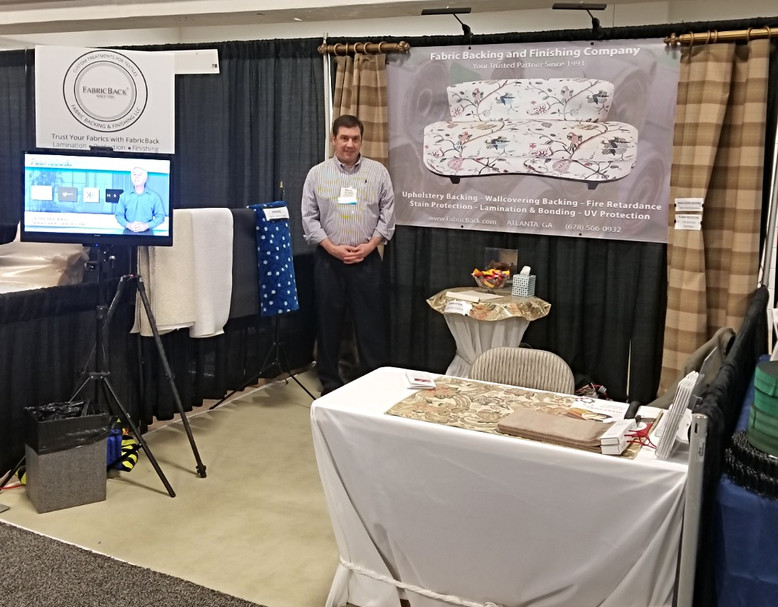FabricBack at the 2018 Home Furnishings Manufacturing Solutions Expo in Greenville, SC