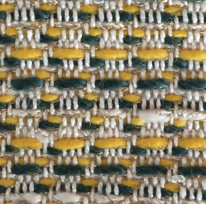 Knit Backing Applied to Delicate Chapas Woven Fabric for Fabulous Custom Upholstered Chairs