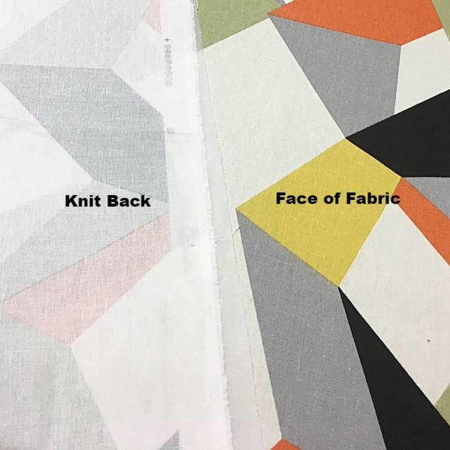 FabBack® - Knit Backing on Beautiful Spring Fabric