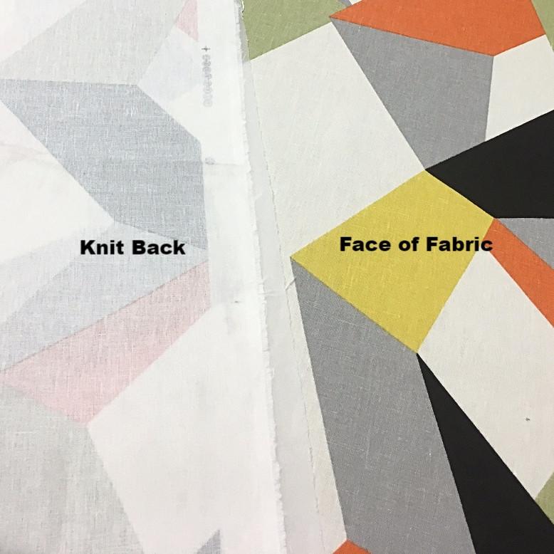 FabBack® - Knit Backing on Beautiful Spring Fabric