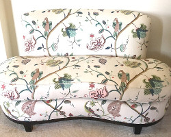 Custom Upholstered Loveseat