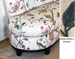 Embroidered Loveseat Detail