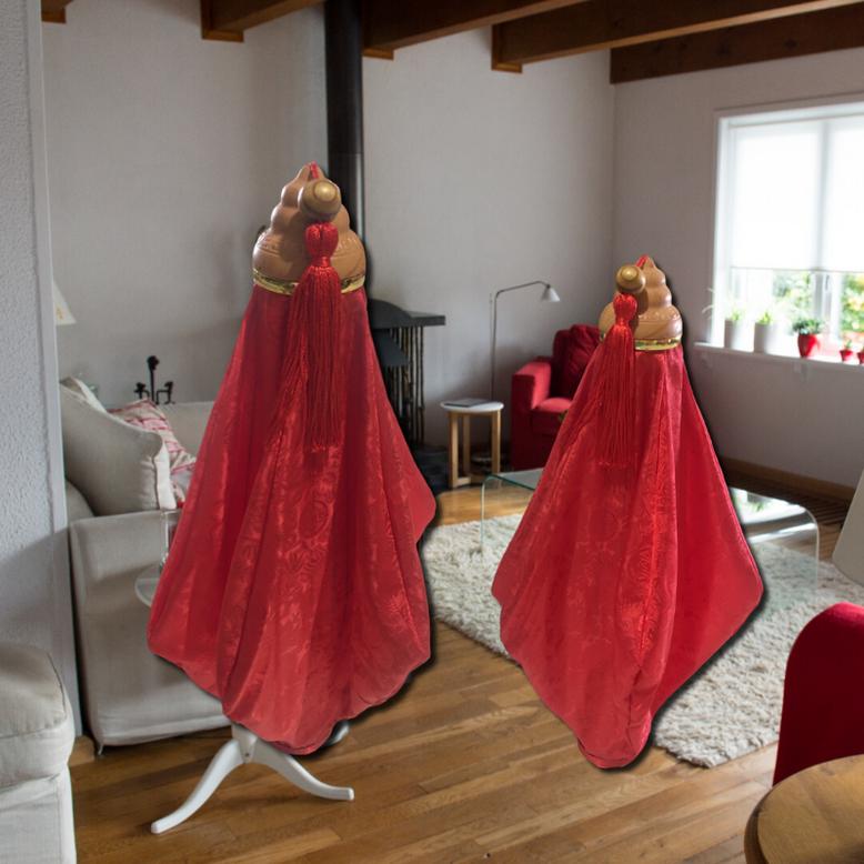 Brocade Silk Lighting Lamps: Fire Retardant Treatment