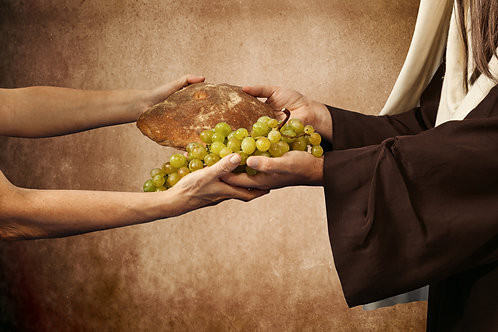 Chúa Giêsu Trao Bánh Và Nho