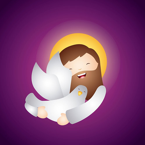 Chúa Giêsu Ôm Chúa Thánh Thần