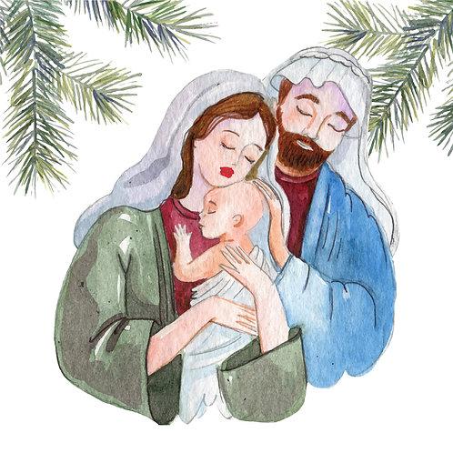 Chúa Giêsu Giáng Sinh Vẽ Tay