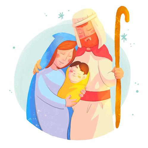 Tranh  Giáng Sinh Màu Nước