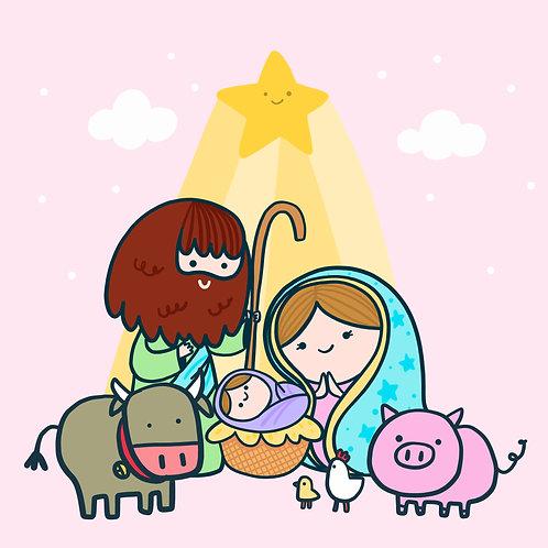 Chúa Giêsu Giáng Sinh Bên Cạnh Động Vật