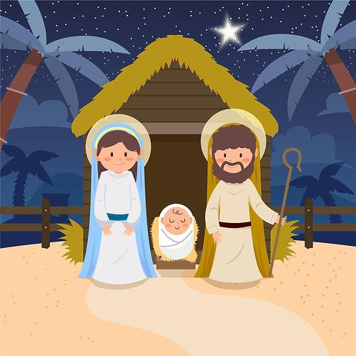 Chúa Giêsu Giáng Sinh 2D