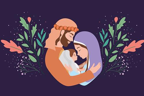 Gia Đình Thánh Gia Phác Hoạ Nửa Người