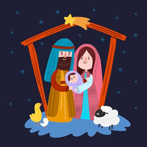 Chúa Giêsu Giáng Sinh Dưới Ánh Sao