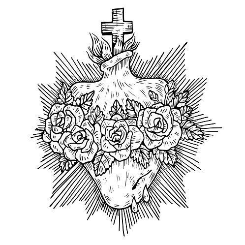 Thánh Tâm Chúa Giêsu Trắng Đen