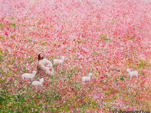 Chúa Giêsu Và Đàn Chiên Bên Vườn Hoa
