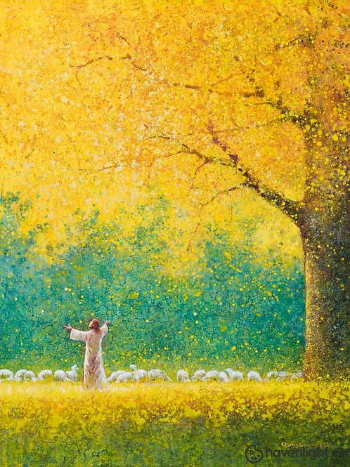 Chúa Giêsu Và Đàn Chiên Vào Mùa Thu
