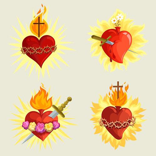 Bộ 4 Trái Tim Chúa Giêsu
