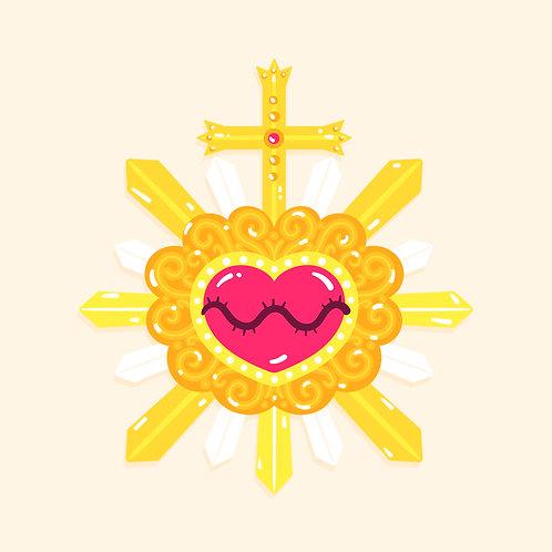 Trái Tim Chúa Giêsu Trong Mặt Nhật