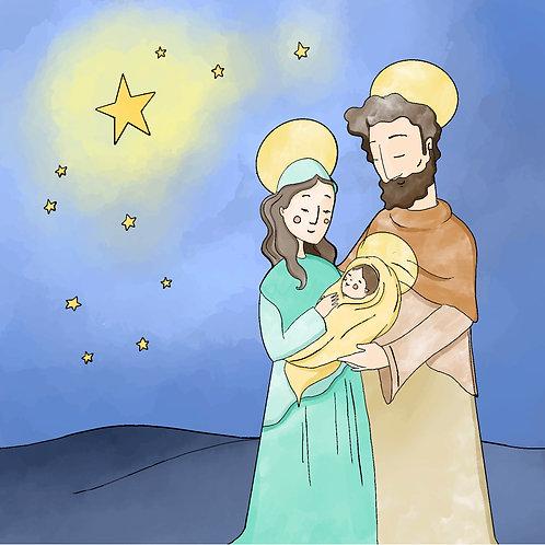 Chúa Giáng Sinh Màu Nước