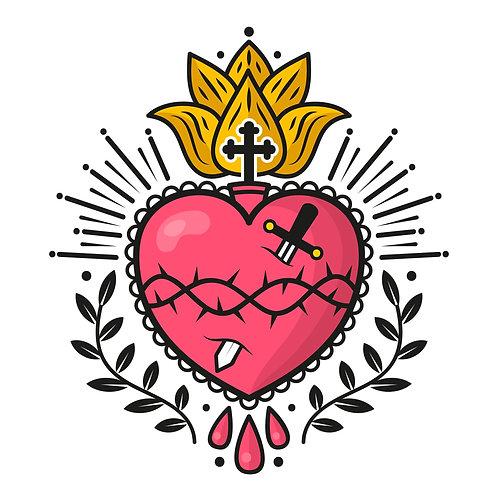 Trái Tim Chúa Giêsu Vẽ Tay