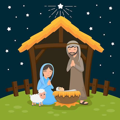 Chúa Giêsu Giáng Sinh Ngoài Trời Đêm Lạnh Lẽo