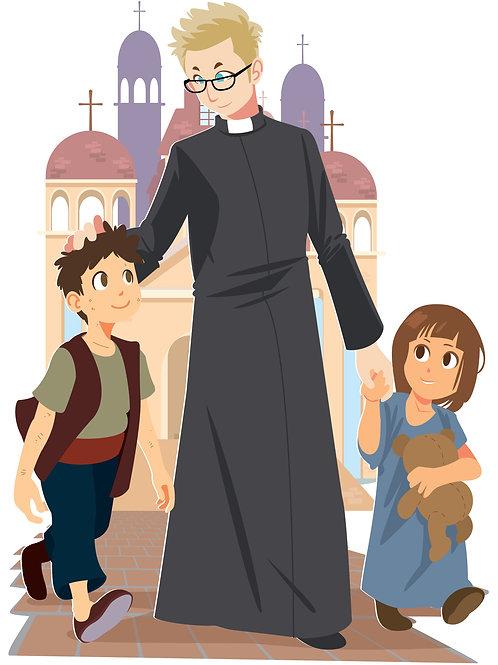 Linh mục và các em thiếu nhi