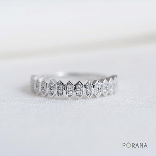 WEAVE | Diamond Band ring, stacking ring