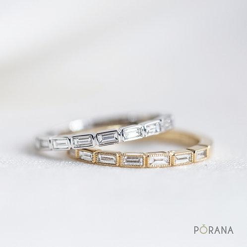 Baguette Diamond Wedding Band Ring