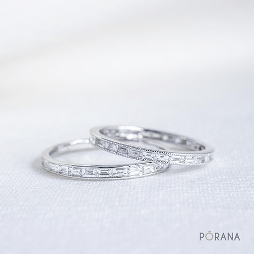 Eternity Baguette Diamond Wedding Band/Band ring