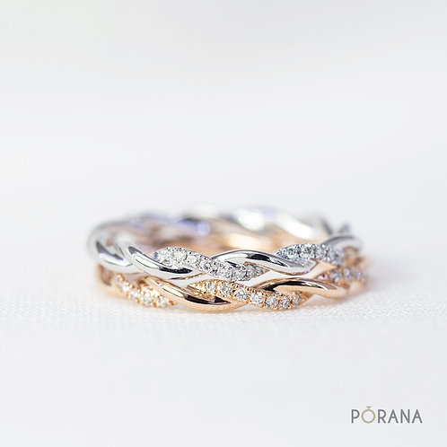 Petite Twist Diamond Ring with delicate diamond details