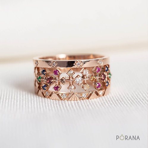 PA SINH | 3 Stacking Multicolored Navaratna rings