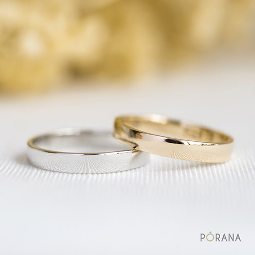 Classic and simple wedding ring width 3mm