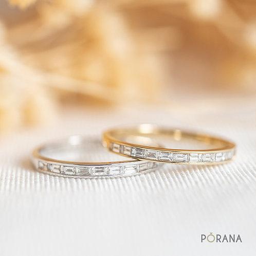Baguette Diamond Wedding Band/Band ring