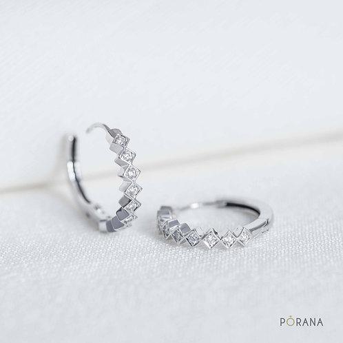 WEAVE | Diamond Huggie Hoop Earrings