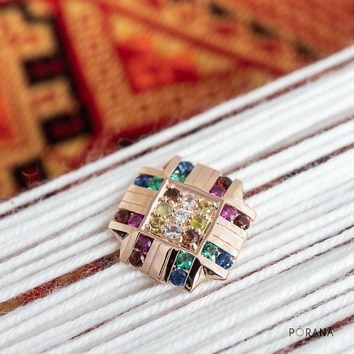 PA SINH | Multicolored Navaratna Brooch