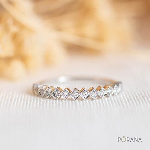 [WEAVE] Round Diamond Band ring, stacking ring