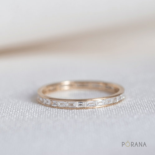 Eternity Baguette Diamond Wedding Band/Band ring