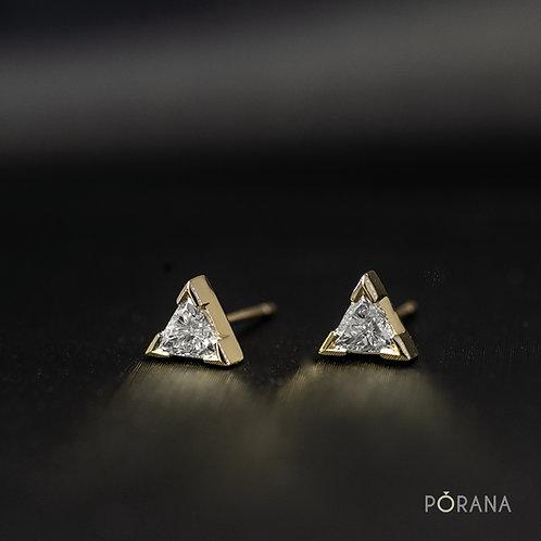 Trilliant cut Diamond Stud Earrings