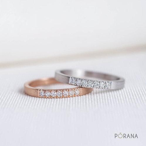 Petite Diamond Ring with 7 round diamonds