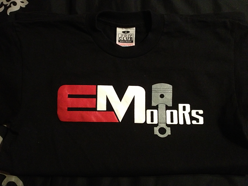 Black EMotors T-Shirt