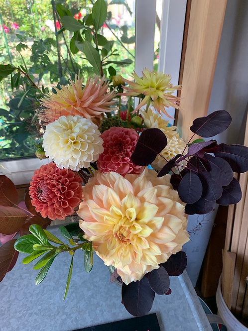Sweet and Sassy Dahlia Bouquet