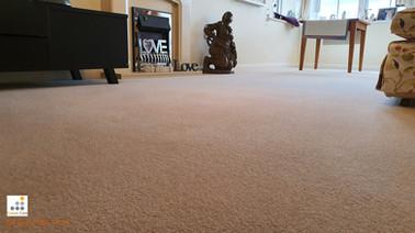 Wool carpet following deep clean
