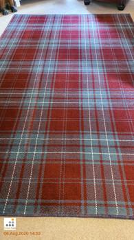 Restored Deep & Vibrant Tartan Rug