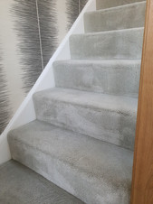 Deep cleaned staircase carpets