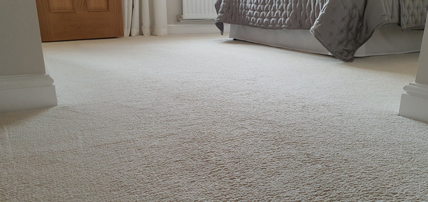 Carpets following deep steam clean
