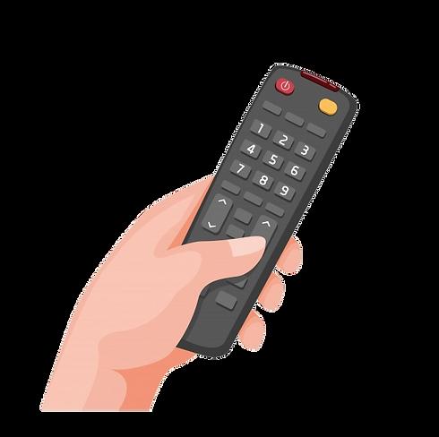 main-tenant-symbole-television-distance-