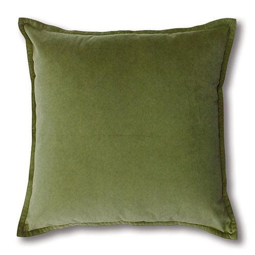 Mira Velvet Cushion - Leaf
