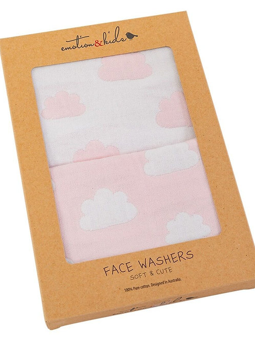 Face Washers - Pink Clouds