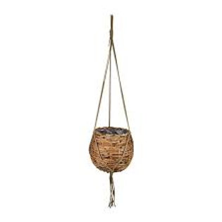 XL Rattan Hanging Basket